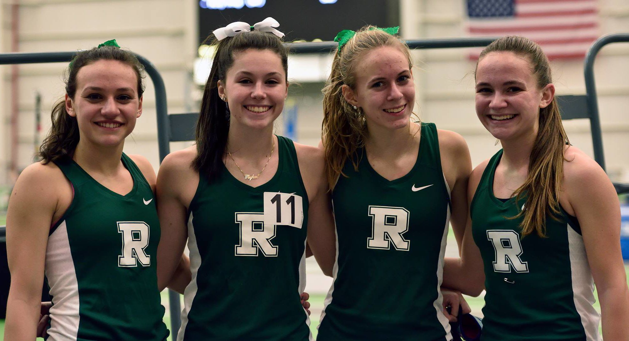 Girls Win State Sections and Set a School Record in DMR!